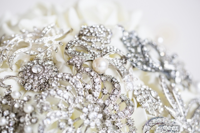 jewellery wedding bouquet