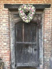Love heart pinks & whites Gorcott Hall