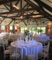 Gorcott Hall  venue dressing tall vase white flowers redditch florist in studley