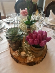 Rustic with spring flowers