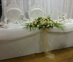 Civil arrangement white flowers