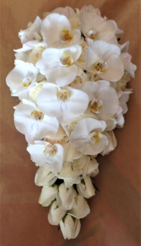 ivory roses with phalaenopsis orchids shower bouquet flair with flowers florist in studley