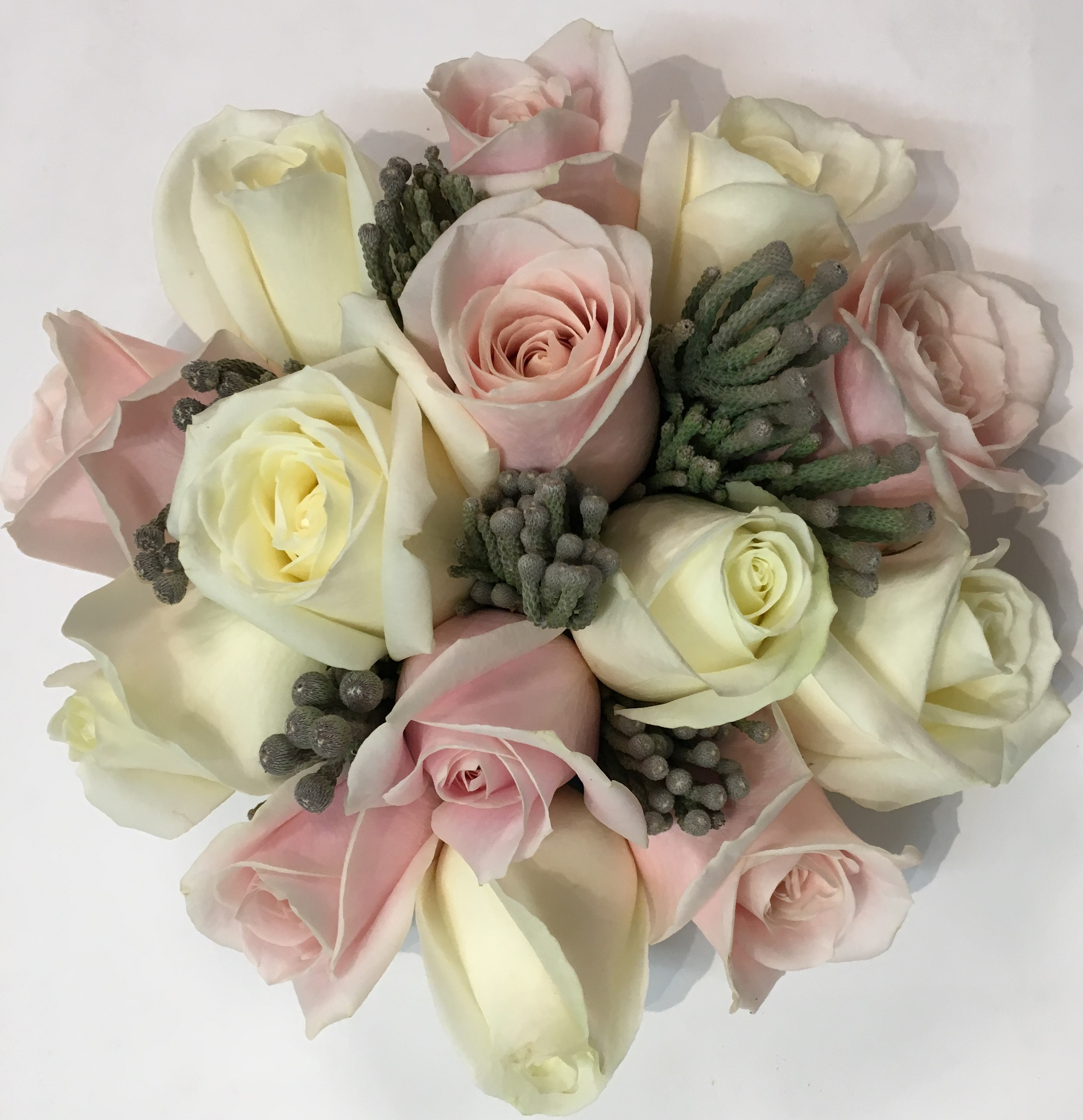Blush pink  ivory wedding bouquet wedding consultant in redditch