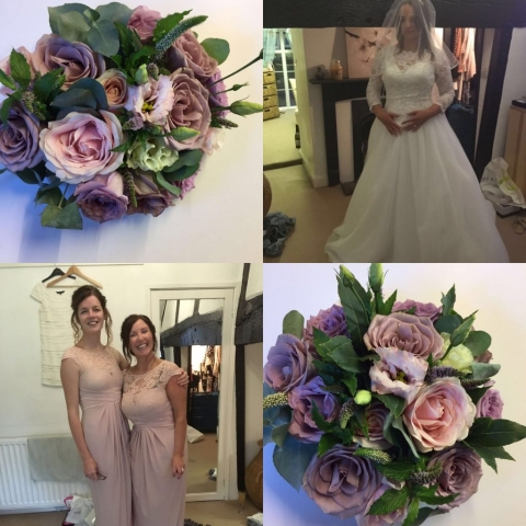 Nude shades with lilacs blush pinks bridal bouquet