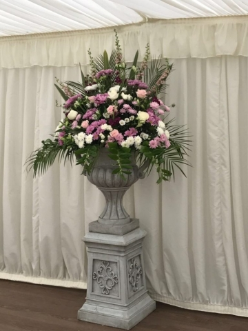 Grand entrance pedestal urns stoneleigh abbey