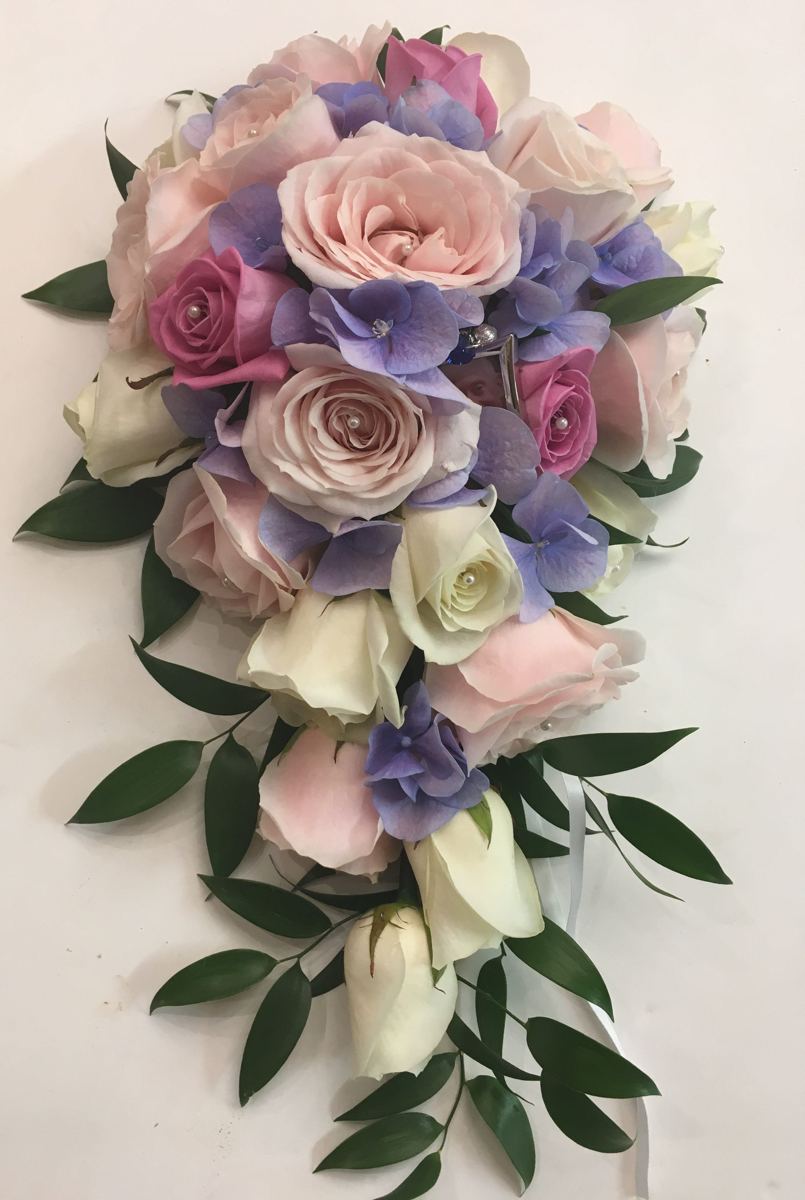 pretty pink shower bouquet