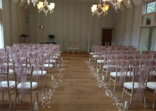 Petals & candles down aisle hampton manor