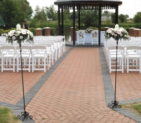Pink  AND white posy pad pedestals