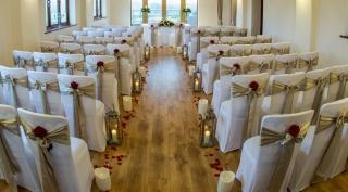 lantern & petals alter arrangement civil ceremony venue dressing redditch flair with flowers