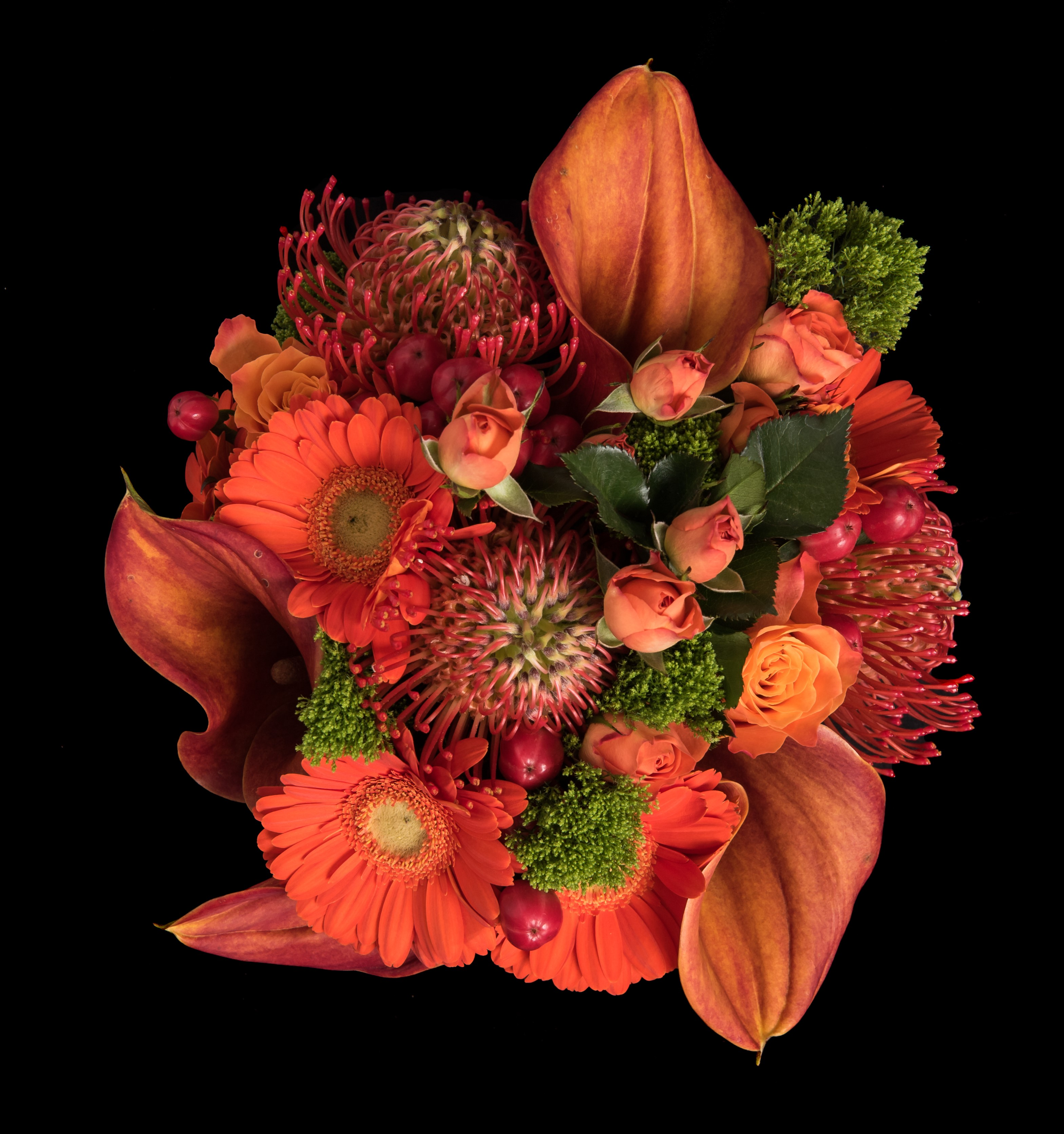 Autumn style coloured wedding oranges reds