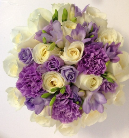 lilacs carnations freesia roses stunning bouquet