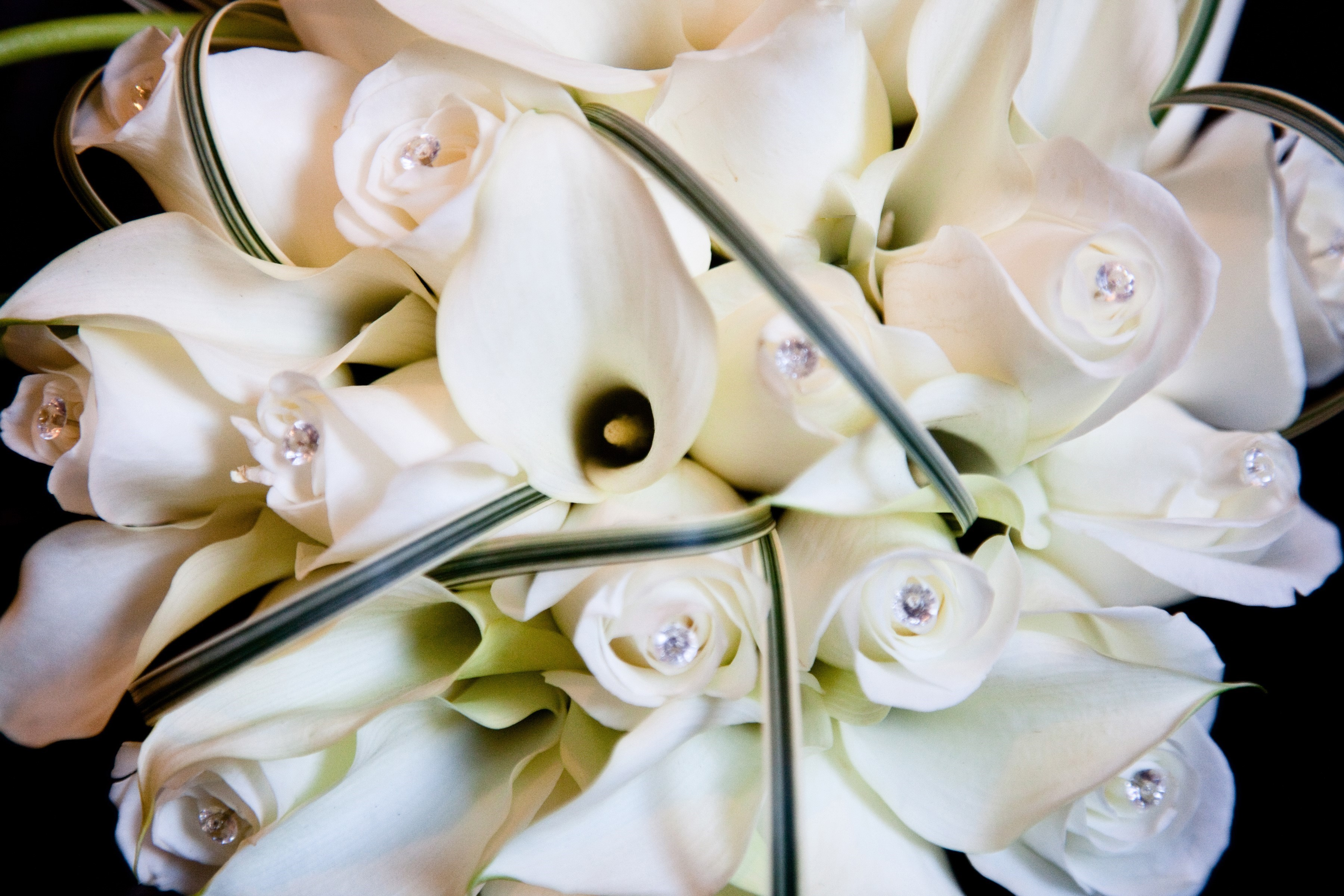calla roses with diamantes