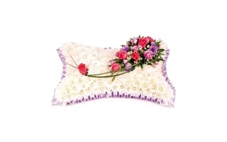pillow of funeral flowers