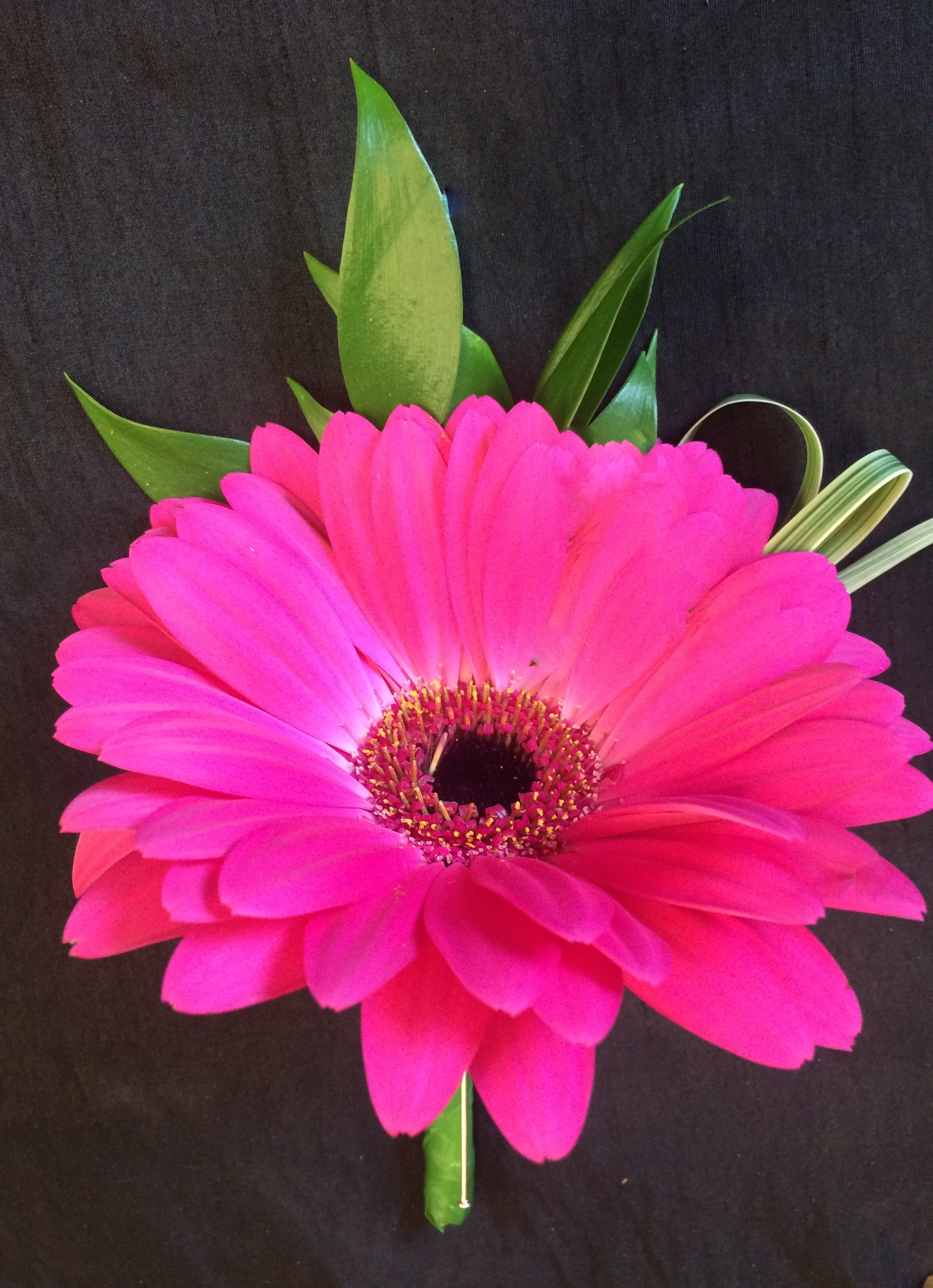 vibrant colour cerise pink buttonhole  mens or ladies