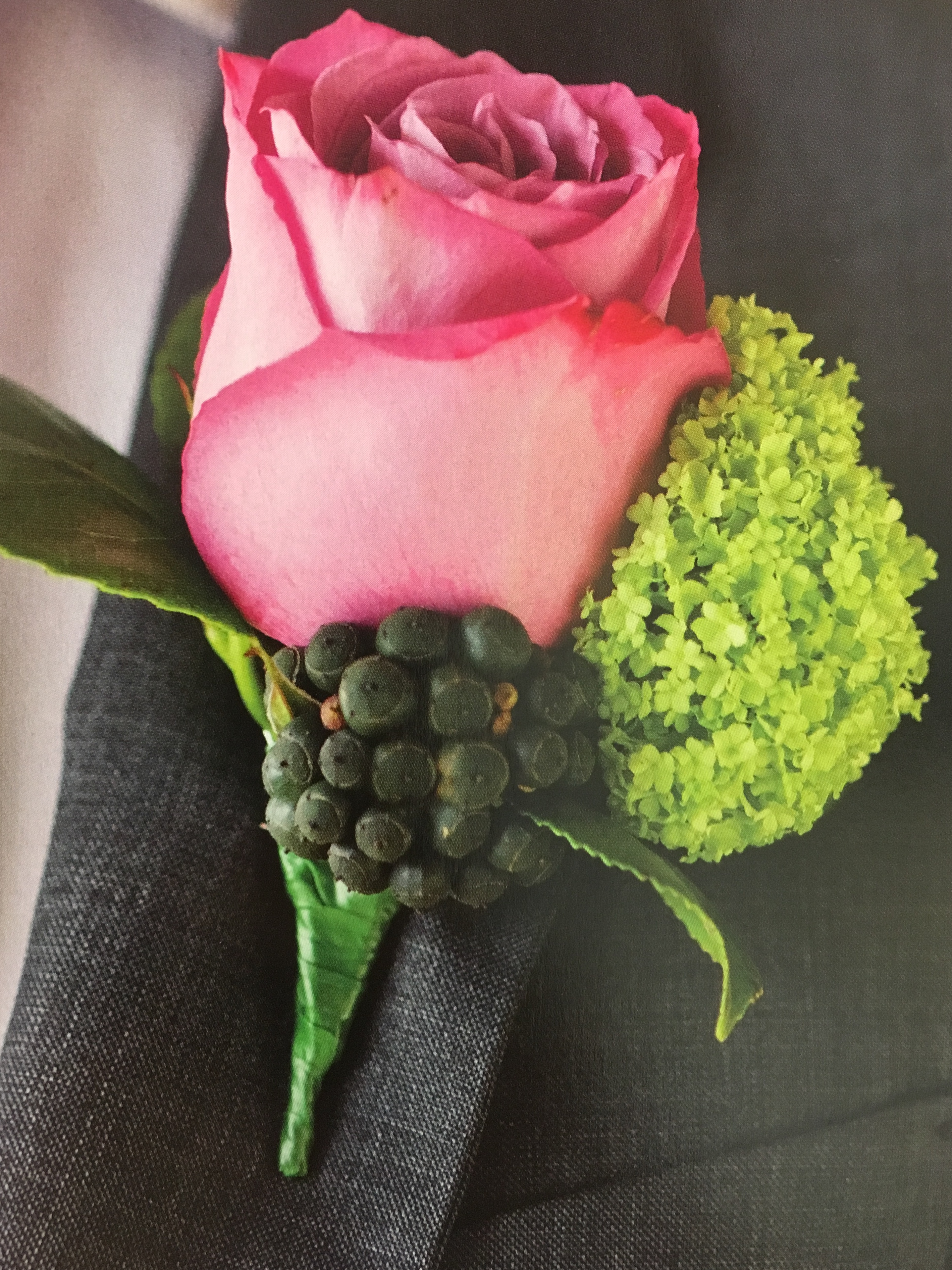 something different grooms buttonhole