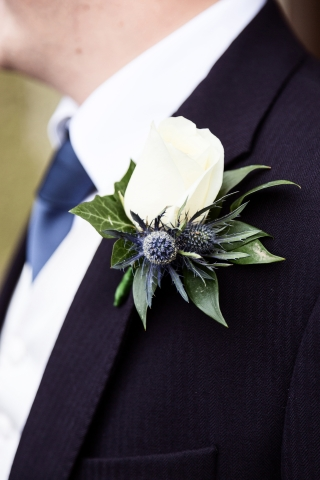 ivy foliage ivory rose mens grooms lapel