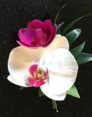 orchids array of colours double buttonhole