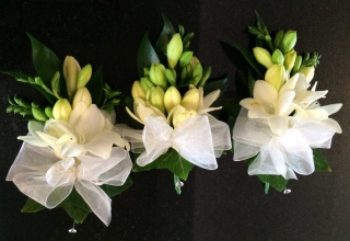 scented freesia ladies corsage bridal party flowers