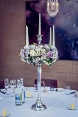 Candelabra of flowers Hampton Manor