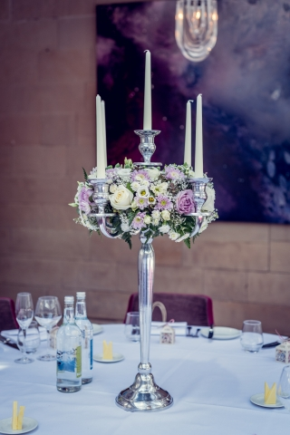 Candelabra of flowers Hampton Manor