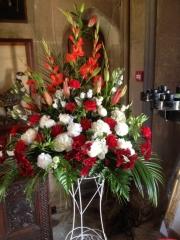 lily gladioli flowers church flowers redditch florist
