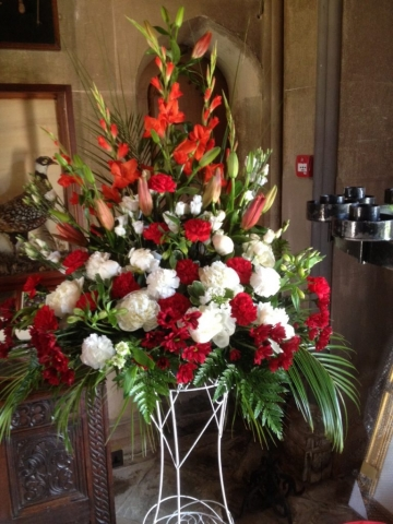lily gladioli flowers church flowers redditch florist