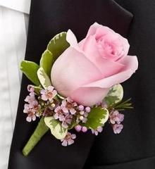 pretty pink rose wax flower pink wedding