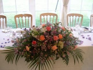 Top table arrangement at Warwickshire Golf Club