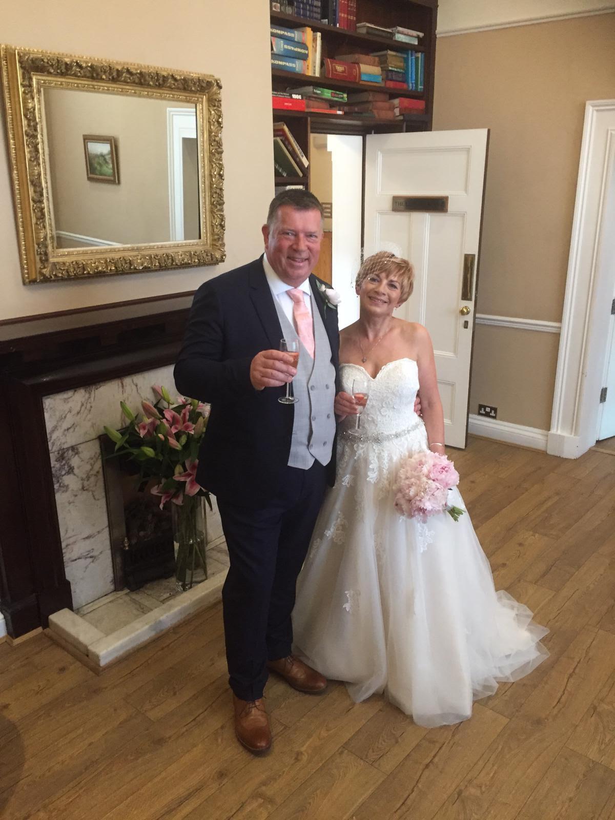 peonies in a wedding bouquet