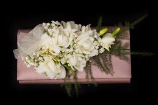 ladies blush pink handbag spray scented freesia