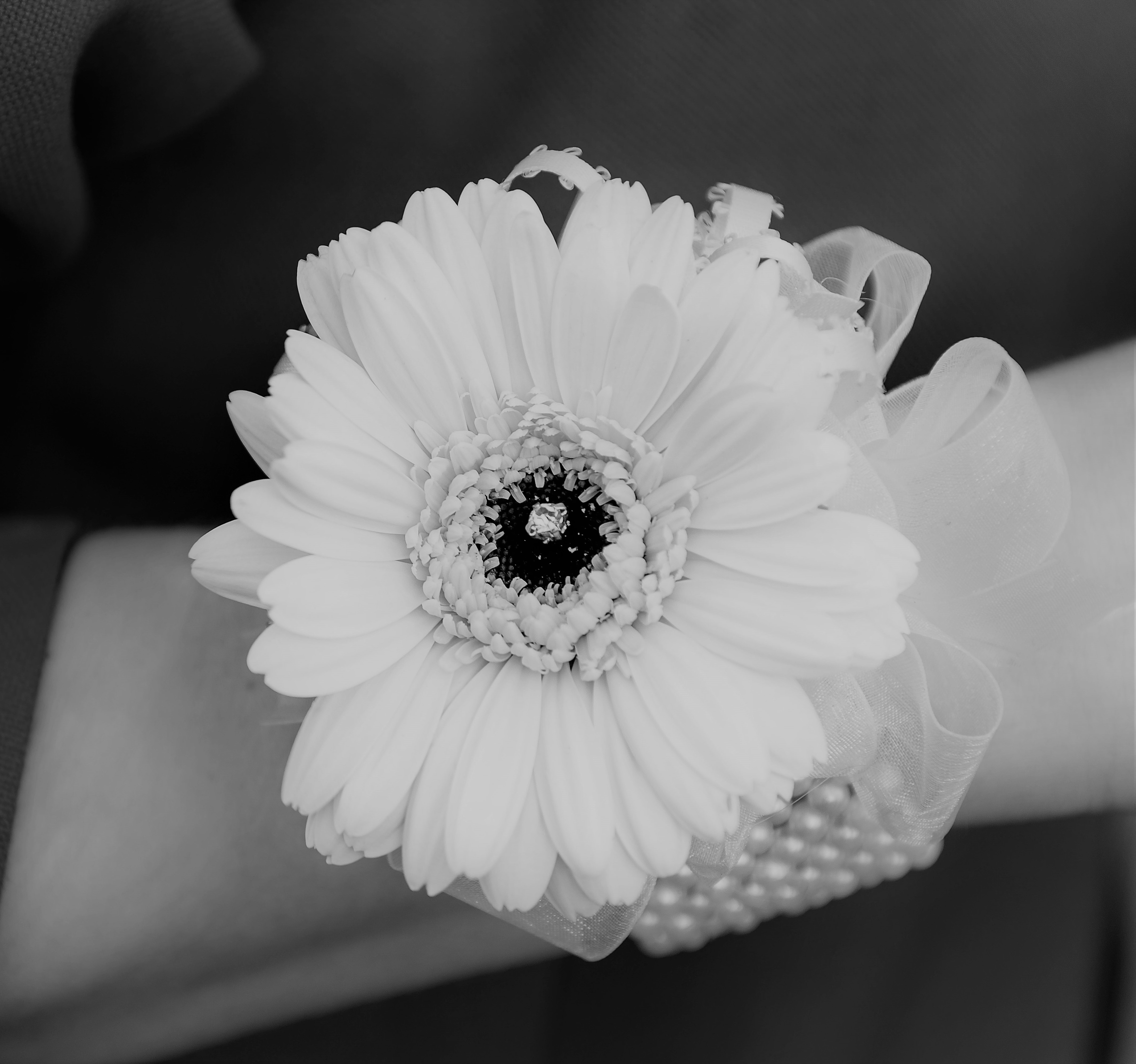gerbera wrist corsage choose your bracelet diamantes