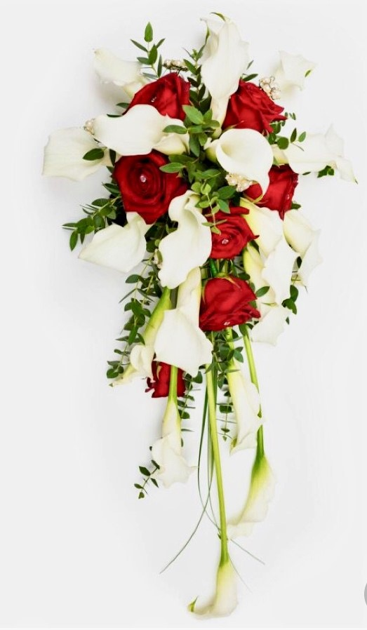 shower bouquet rose red and white calla shower wedding bouquet