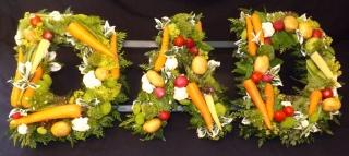 vegetable gardener design with alternative to flowers
