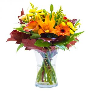 bright flowers in a vase