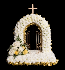 beautiful flowers religious tribute florist in studley redditch alcester flowers different design gates of heaven bespoke design