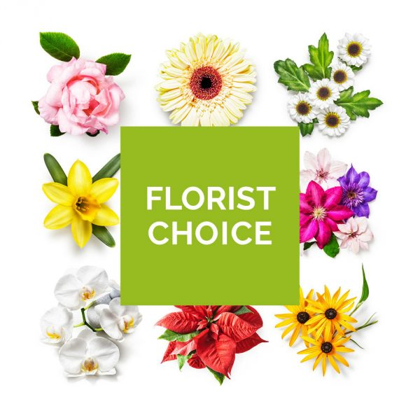 your choice of colours and flowers