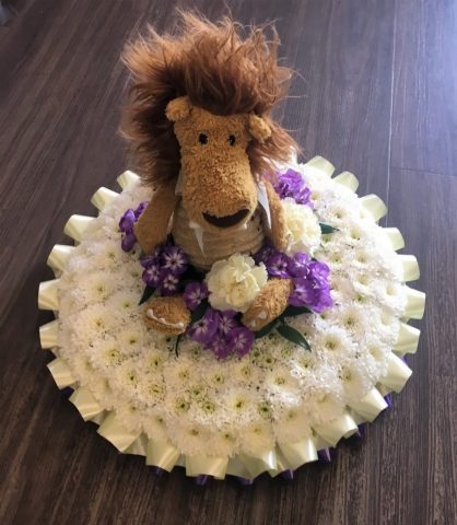 Personal Teddy Bear Touch Funeral Tribute FRESH FUNERAL FLOWERS DELIVERY FLORIST IN STUDLEY REDDITCH ALCESTER