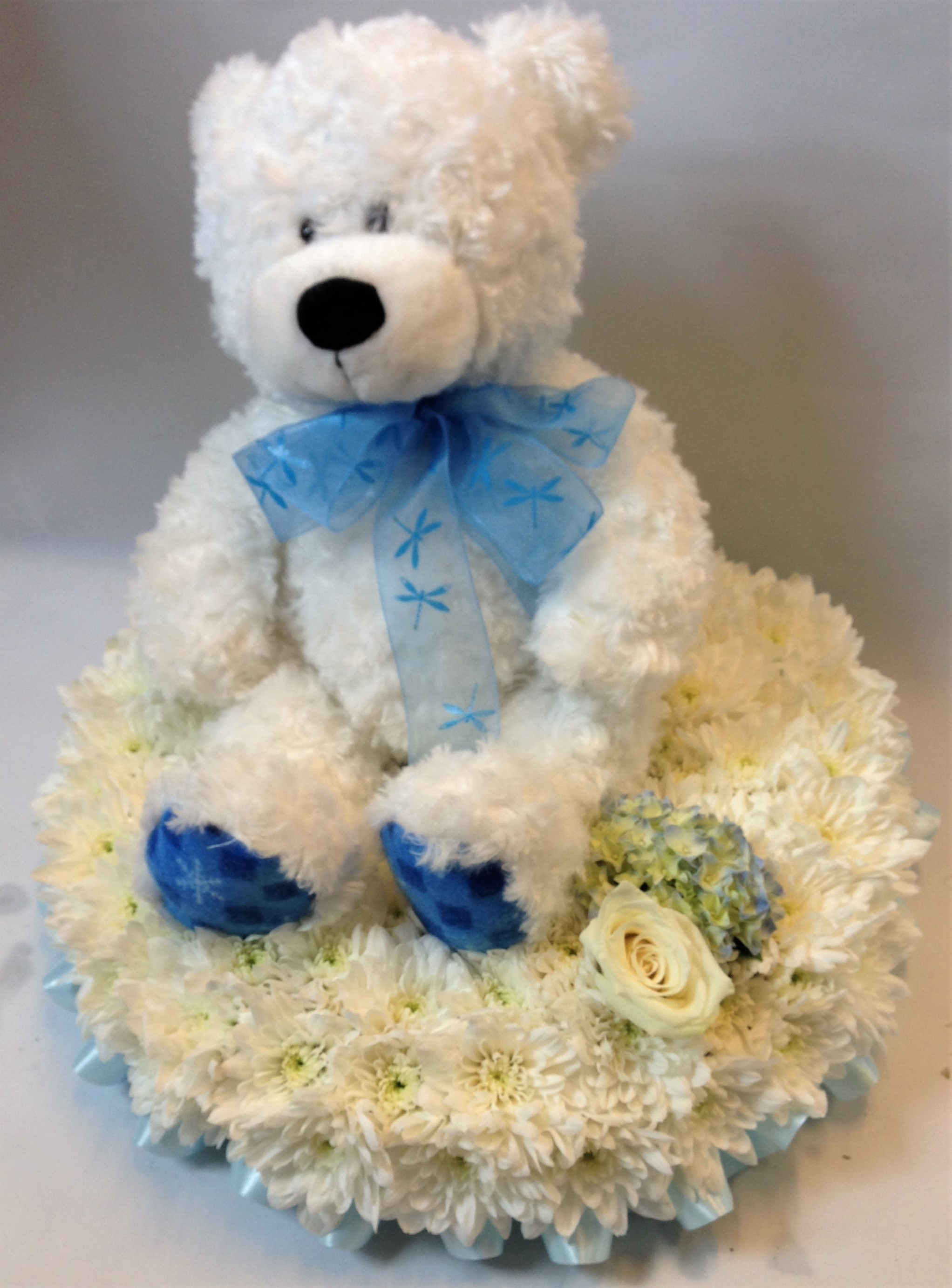 Personal Teddy Bear Funeral Flowers cheap flowers funeral item redditch florist