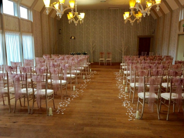 blush pink chair sashes
