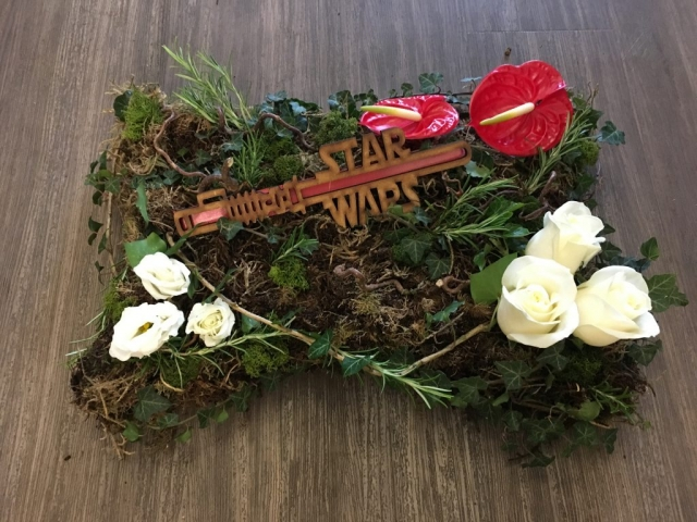 Star Wars funeral tribute