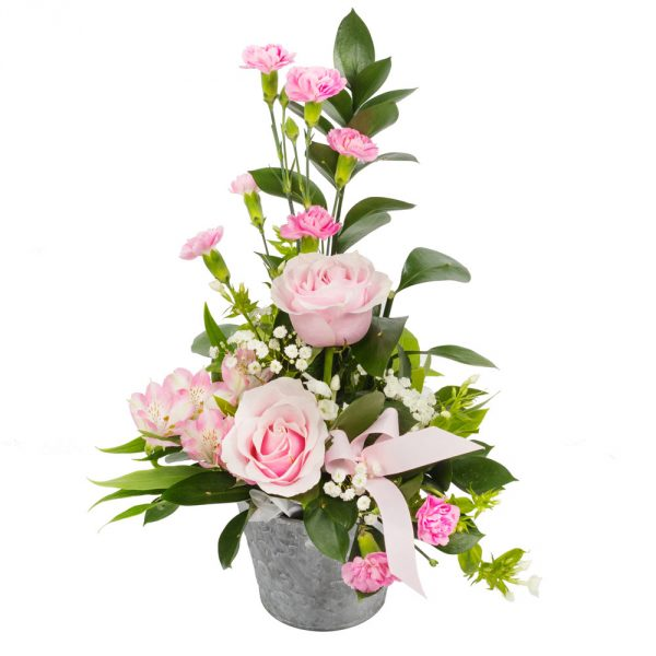 traditional style arrangement in pink