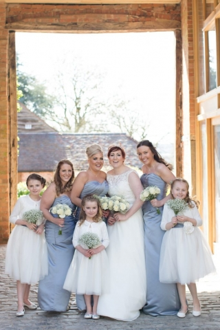hand tied bridesmaid flowers gypsophila