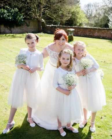 rustic gypsophila bouquets suitable for little bridesmaids