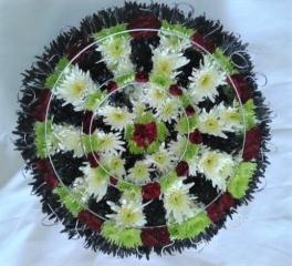 Dart Broad Bespoke Tribute  FRESH FLOWERS FUNERAL ITEM FLOWER SHOP REDDITCH STUDLEY ALCESTER DELIVERY BESPOKE ITEMS CHEAP FLORIST FUNERAL