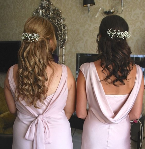 Bridesmaids pieces of hair gyp