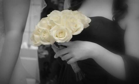 child ivory rose bouquet