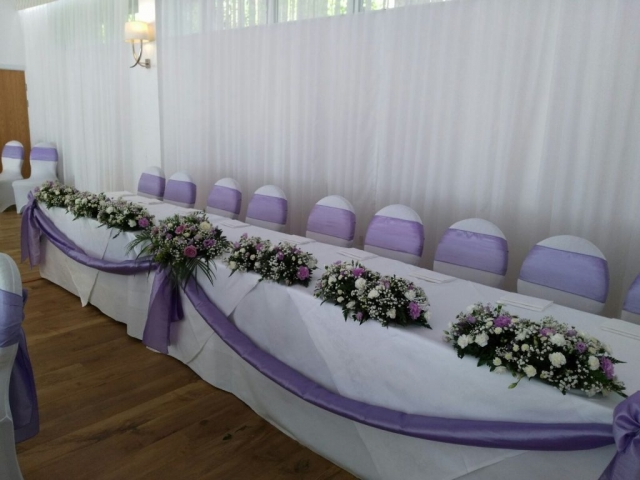 star light back drop with lilac sashes