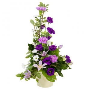 purple arrangement