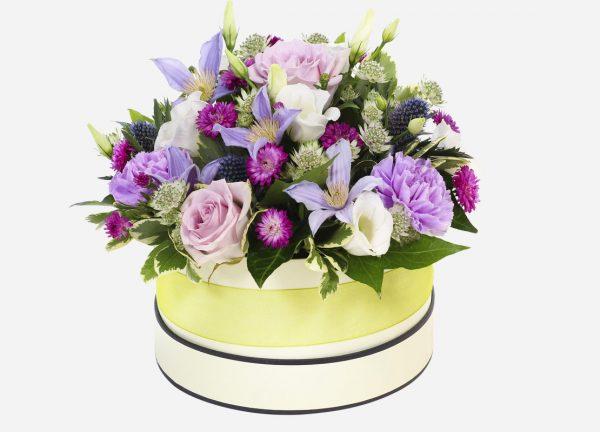 present box of flowers